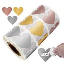 Forma do coração riscar fora etiquetas etiquetas diy fazer seu próprio presente surpresa decoração adesivos