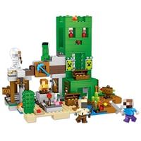 534pcs My World Creeper Ore Hole Treasure Hunt Building Blocks Compatible Legoingly Minecrafteing 21155 Bricks Children Toys