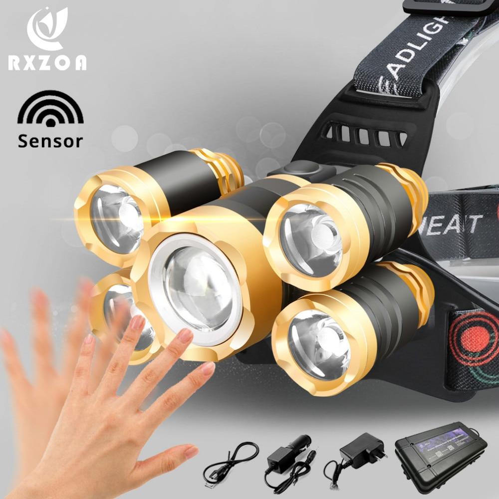 Купить мощный светодиодный головной светильник t6 фара 8000 люмен масштабируемые