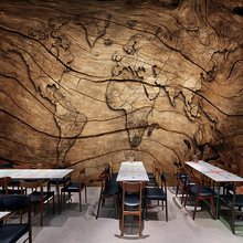 mapamundi madera RETRO VINTAGE