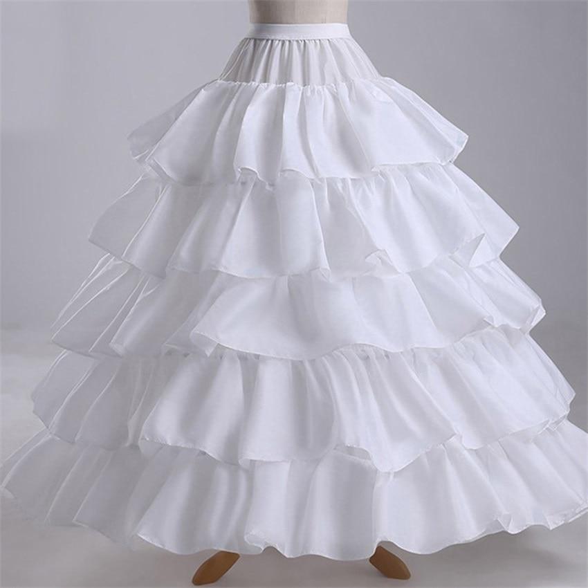 NUOXIFANG Cheap Long 4 Hoops Petticoat Underskirt For Ball Gown Wedding Dress Mariage Underwear Crinoline Wedding Accessories
