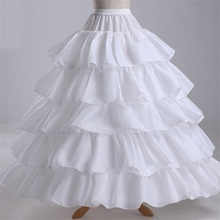 NUOXIFANG Cheap Long 4 Hoops Petticoat Underskirt For Ball Gown Wedding Dress Mariage Underwear Crinoline Accessories