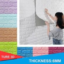 3D קיר מדבקות לבני חיקוי שינה דקור עצמי דבק טפט לסלון מטבח טלוויזיה רקע תפאורה