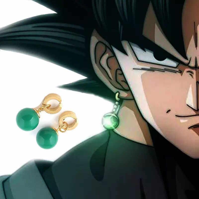 1 คู่ Super Dragon Ball Z Vegetto Potara สีดำ SON Goku ชุดคอสเพลย์แหวน Zamasu ต่างหู EAR STUD