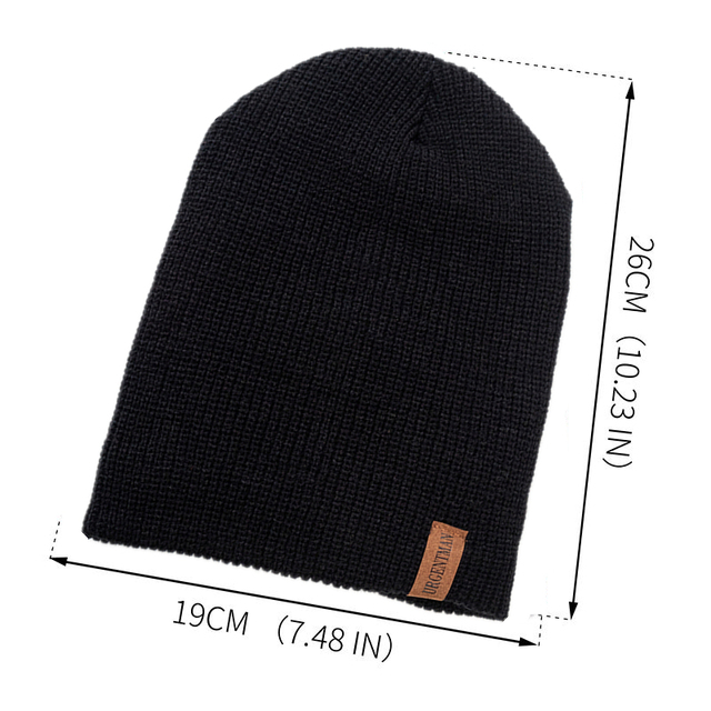 New Unisex Letter Beanie Hat Leisure Add Fur Lined Winter Hats For Men Women Keep Warm Knitted Hat Fashion Solid Ski Bonnet Cap 2