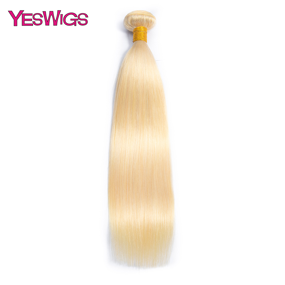 Yeswigs Malaysian Straight Hair Bundles Remy Human Hair Weave 1/3/4 Bundles Deal 613 Color Hair Extensions Free Shipping image