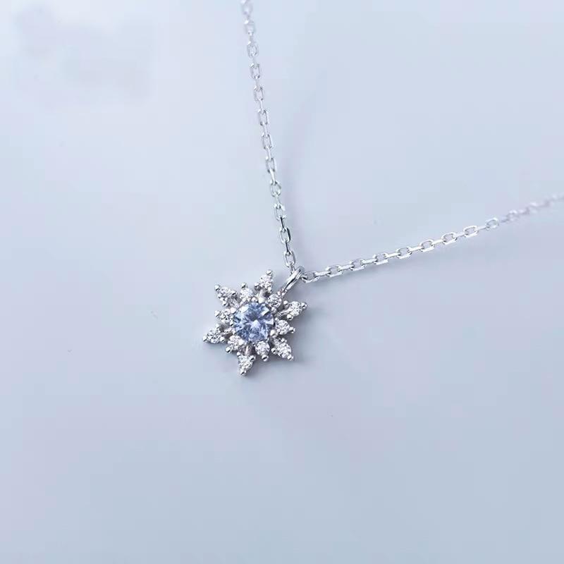 Genuine 925 Sterling Silver Minimalist Ring For Women Wedding Zircon Snow Fashion Jewelry Cute Valentine's Day Gift