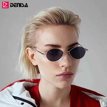 DENISA Vintage Water Drop Sun Glasses Designer Brand Luxury Women Glasses Small