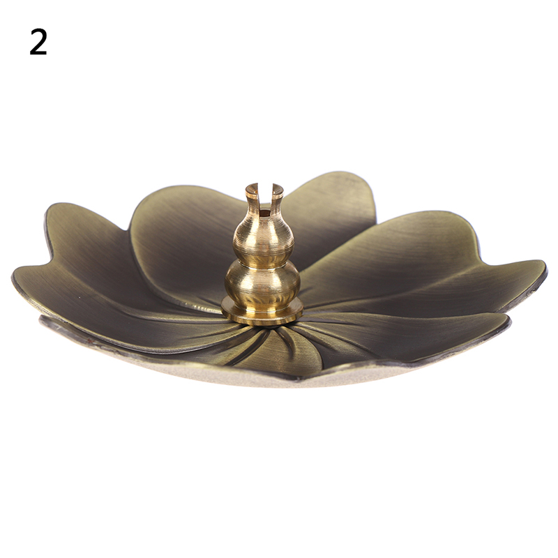 1PC Metal Lotus Backflow Incense Burner Perfume Flower Shape Home Incense Holder Alloy Fragrance Furnace Plate Stand