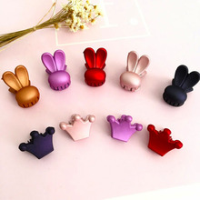 10PCS Environmental Protection Rubber Paint Rabbit Hairpin DIY Color Children Hair Accessories Style Cute Girl Fashion Jewelry