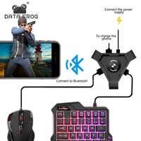 Bluetooth Adapter PUBG Mobile Gamepad Controller Spiel Maus Tastatur Konverter Für Android IOS Telefon zu PC Stecker und Spielen
