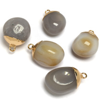 LE SKY Agates Pendant & Necklace Fashion New Natural Stone Pendants for Jewelry Making Supplies Fit necklace Bracelets 18x25mm