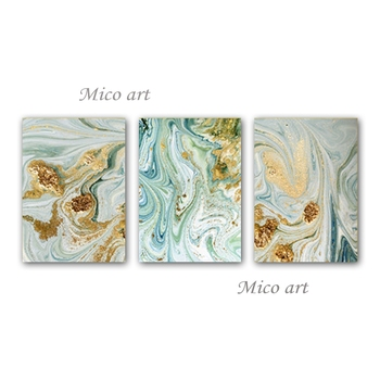 New Design Abstract 3 Pieces Unframed Hot Selling Oil Painting Group Wall Art Hangings Canvas Artwork For Living Room Home Decor