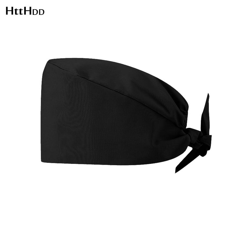 2020pure Colour Surgical Medical Cap Doctors Operating Room Hatswork Hat Pet Doctor Hats Pharmacist Hospital Skull Hat Wholesale