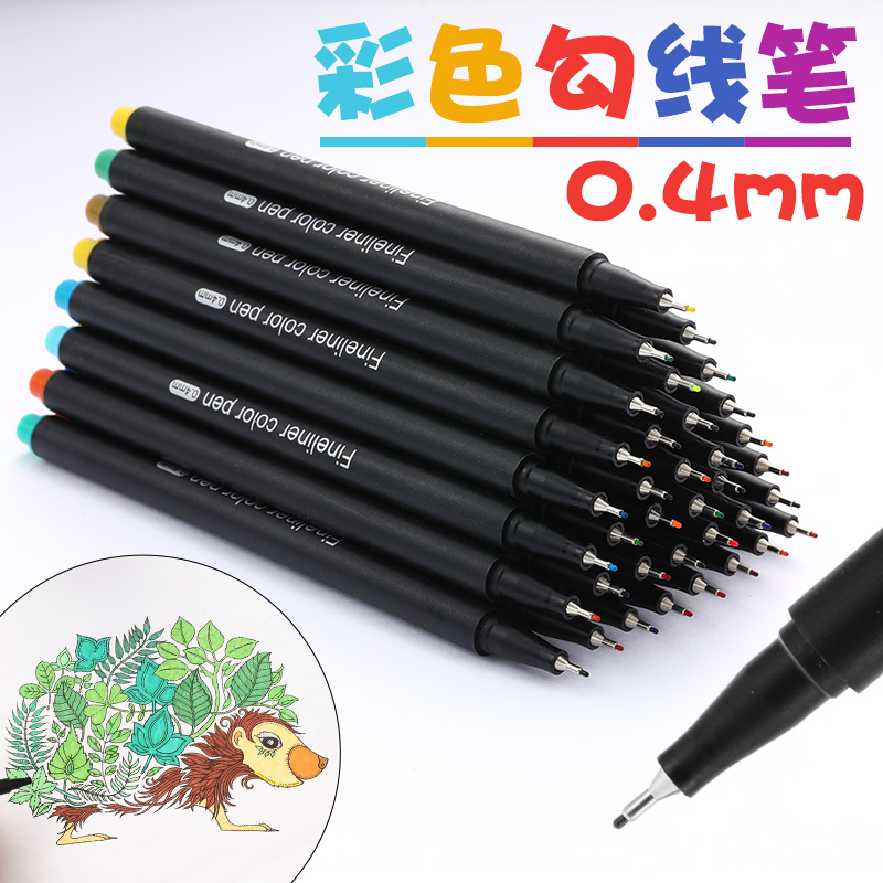 12/24/36/48/60 Colorful Neutral Permanent Gel Pen Fineliner Pens For School Office Pen Set Ink Pen Art Supplies 04031