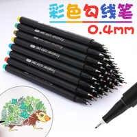 12/24/36/48/60 Colorful Neutral Permanent Markers Pen Fineliner Pens For School Office Pen Set Ink Pen Art Supplies 04031