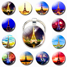 Beautiful Eiffel Tower pattern Keychain World Famous Attractions keyring Pendant Fashion Accessories Men Tourism Memorial Gift south african tourism memorial tree leopard refrigerator