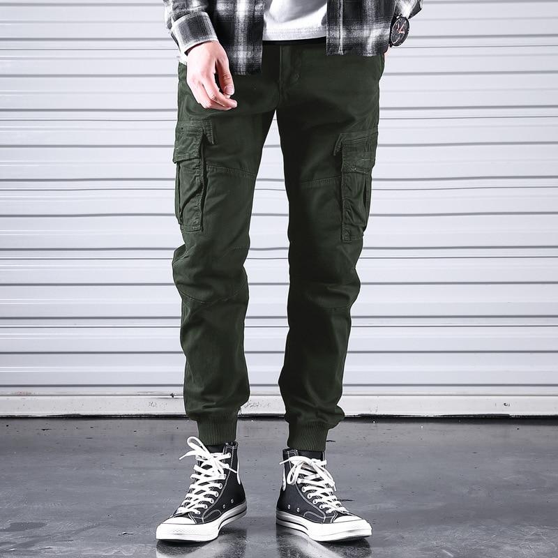 Bib Overall Men's Ankle Banded Pants Casual Pants Gymnastic Pants Skinny Pants Popular Brand Super Fire Hip Hop Korean-style Tre