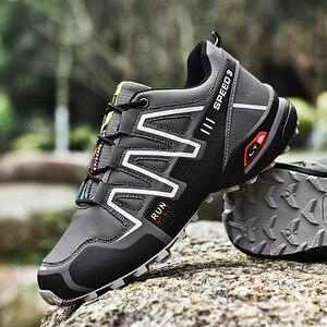 Image 1 - 運動靴男性のトレンド男性ランニングシューズ 2020 ホット販売ハイキングシューズ男性の大サイズの屋外カジュアルシューズメンズ
