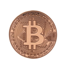 New Plated Rose Gold Bitcoin Coin Collectible Art Collection Gift Physical