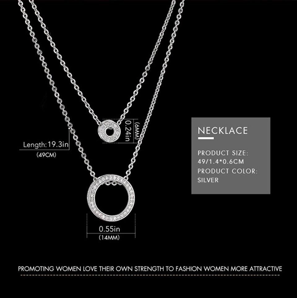 Ensemble bijoux Femme montre cristal Design Bracelet collier 6