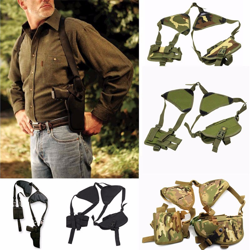 New Outdoor Tactical Police Security Universal Left/Right Hand Pistol Pouch Shoulder Holster