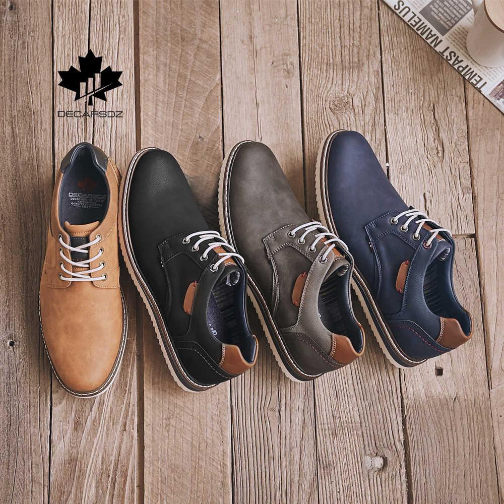 Erkekler rahat ayakkabılar yeni tasarım moda ayakkabılar erkekler iş ofis klasik kovboy tarzı rahat ayakkabılar erkek rahat dantel-up erkek ayakkabıları