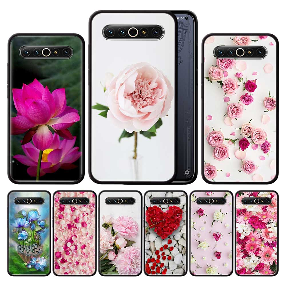 Flower Pink Peonies Rose Case For <font><b>Meizu</b></font> M6 <font><b>16</b></font> 16s 16Xs 16T 16th 16s 17 <font><b>Pro</b></font> Black Silicone TPU Phone Cases Coque image