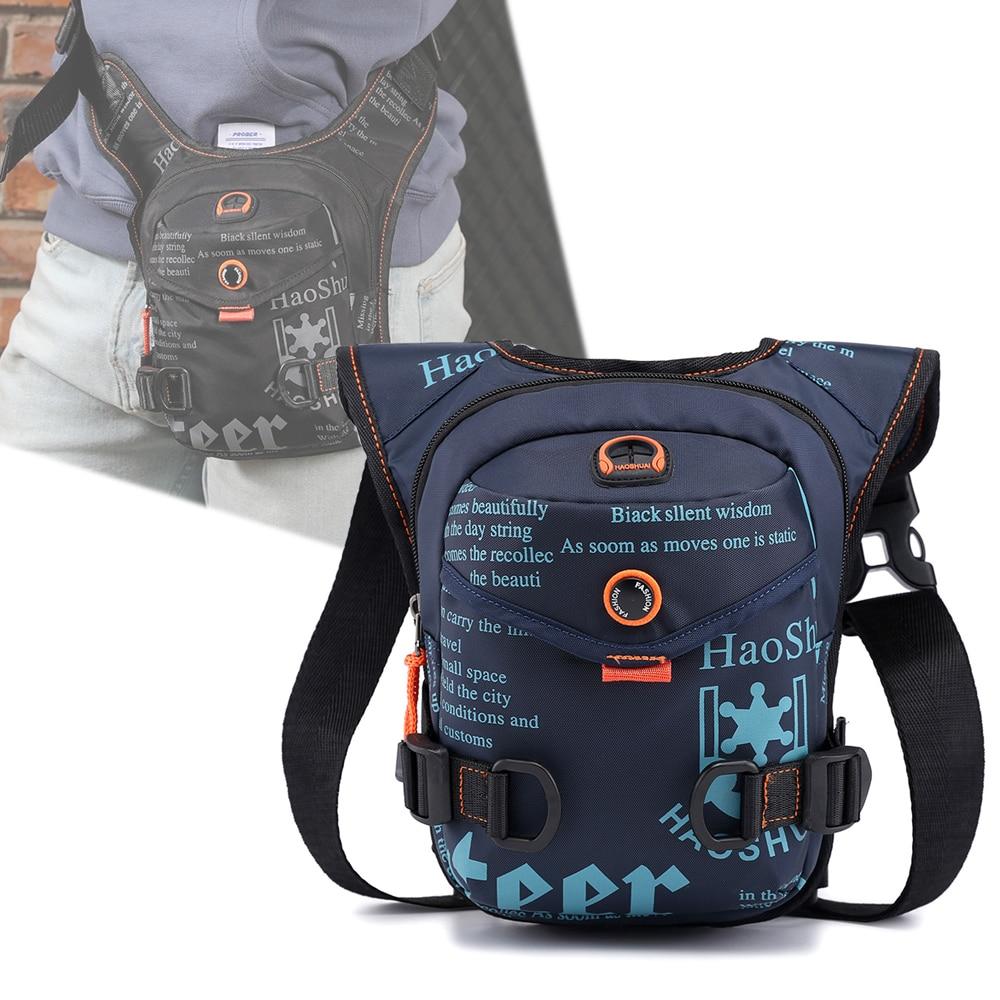 Men Waterproof Nylon Drop Leg-bag Thigh Hip Bum Beltleg Fanny Pack Boys Waist Travel Riding Motorcycle Crossbody Shoulder Bags