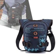 Мужчины водонепроницаемый нейлона падение ноги сумка бедра хип бум Фанни пакет путешествия талии Beltleg мальчиков езда мотоцикл кроссбоди плеча сумки