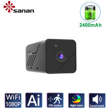 100% Wireless Home Security Mini IP Camera WiFi 1080P Full HD Battery Powered No light IR Night Vision PIR Human detection CCTV