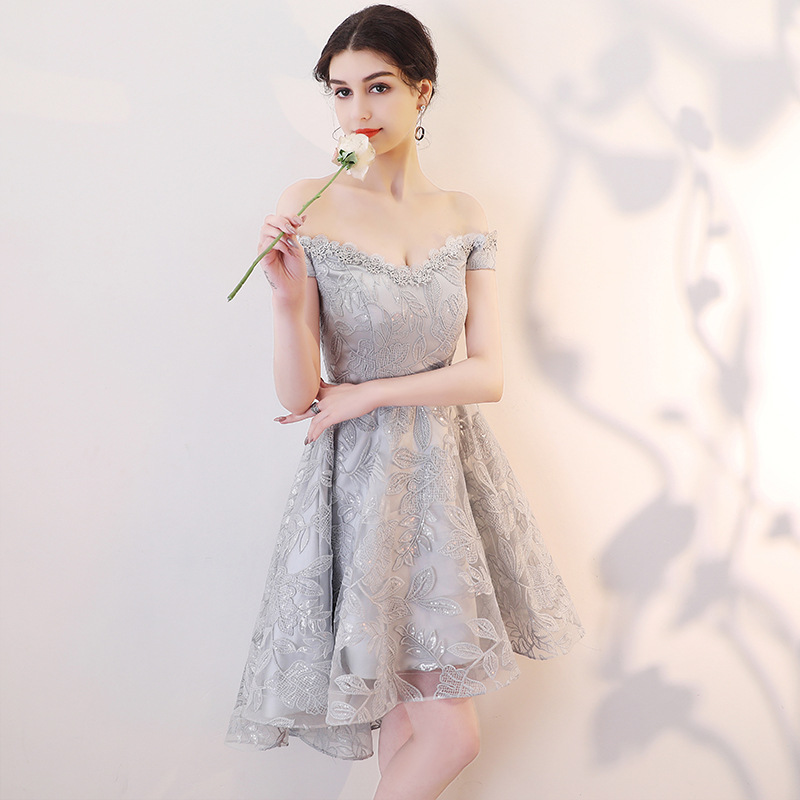 Sweetheart Off Shoulder   Cocktail     Dress   Fashion Knee Length A-Line   Dresses   with Belt For Party