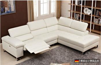 Living Room Sofa L shape corner sofa recliner electric couch real genuine leather sectional sofas muebles de sala para casa cama
