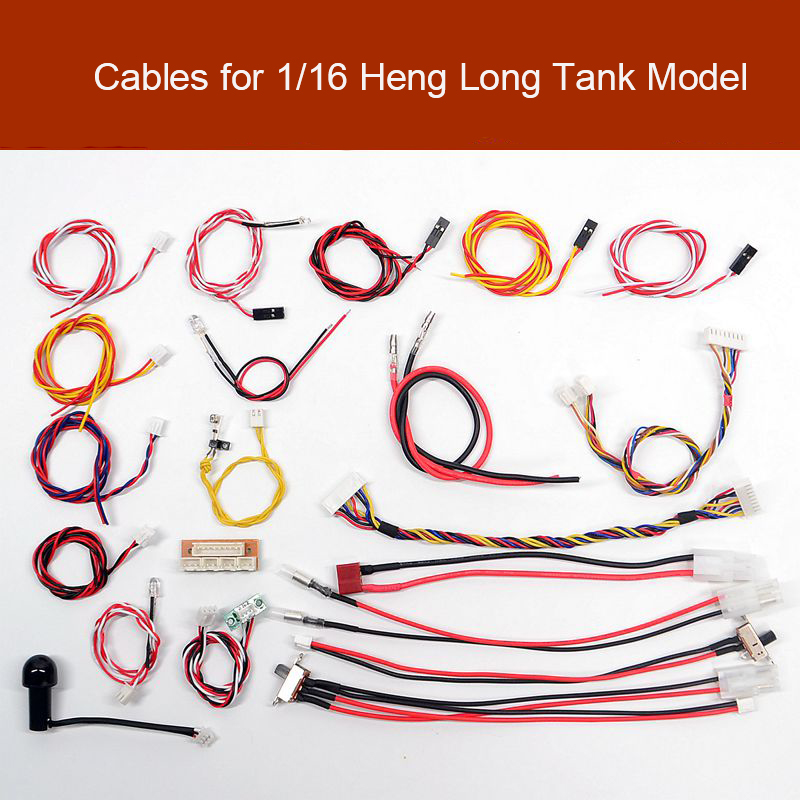 Cable Battery/Motor/Light Wiring Infrared Battle Wire/Aiming Light/Machine Gun Light Parts for <font><b>1/16</b></font> <font><b>Heng</b></font> <font><b>Long</b></font> <font><b>RC</b></font> <font><b>Tank</b></font> Model image