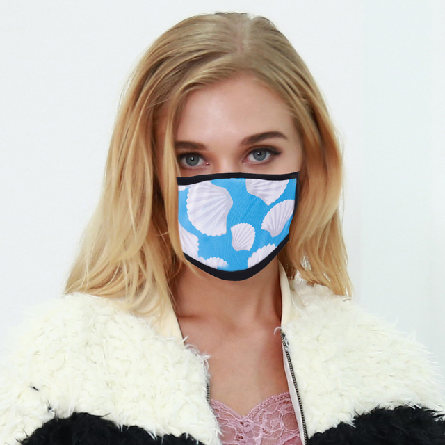 5pcs Leopard Acrylic & Spandex Black Mouth Mask Anti Dust Mask Activated Windproof Mouth-Muffle Bacteria Proof Flu Face Masks 1