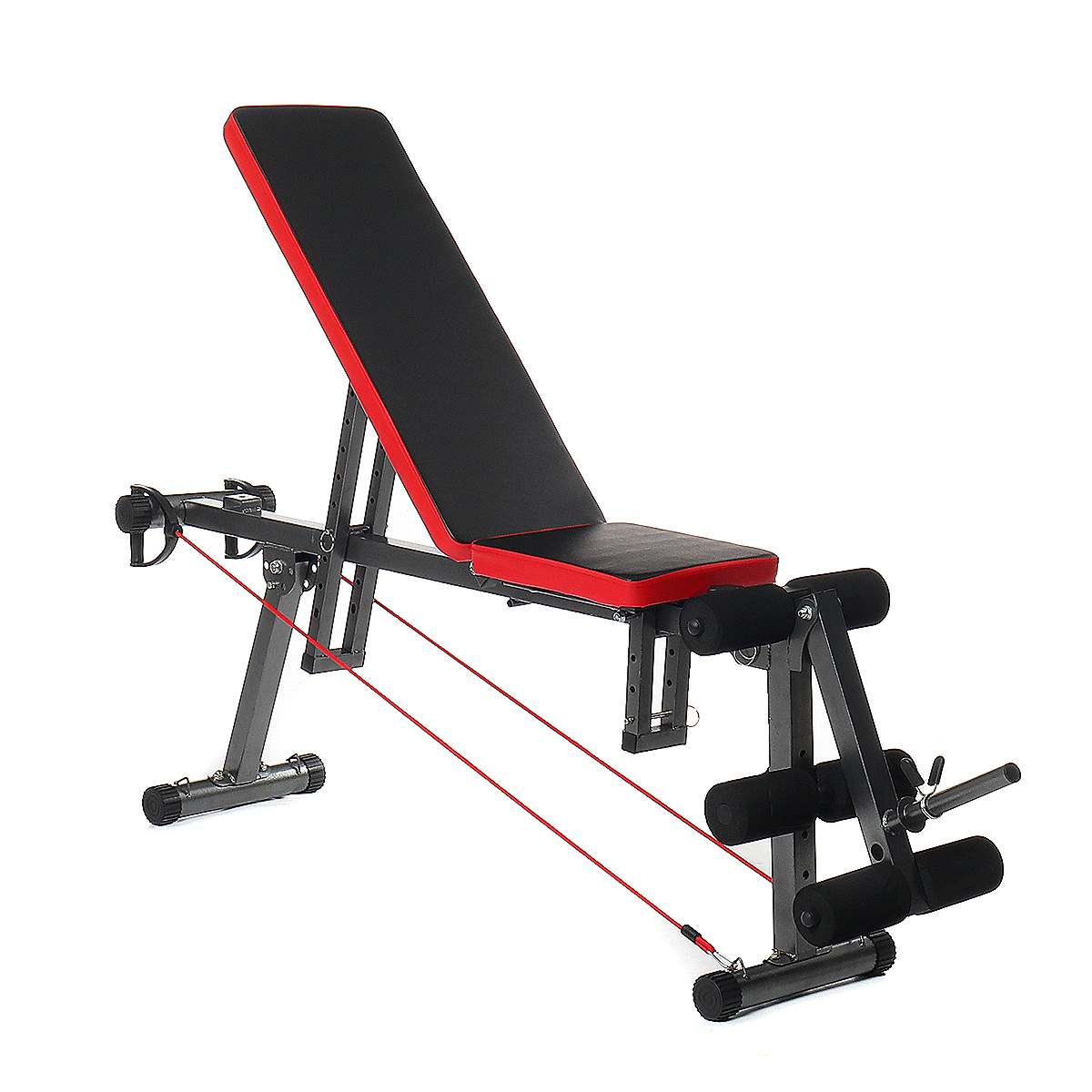 Adjustable Sit Up Bench Multi-position Comfortable Stable Durable Multi-functional Steel Fitness Workout Bench