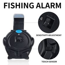 Fishing Bite Alarms 40g Electronic Wireless ABS Fish Bite Alarm New LED Light Feeder Fishing Method Feeder Fishing Bite Alarms(China)