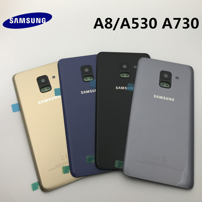 SAMSUNG Galaxy A8 A530 A8 Plus A730 Back Glass Battery Cover Rear Door Housing Case For SAMSUNG A8 2018 Back Glass Cover