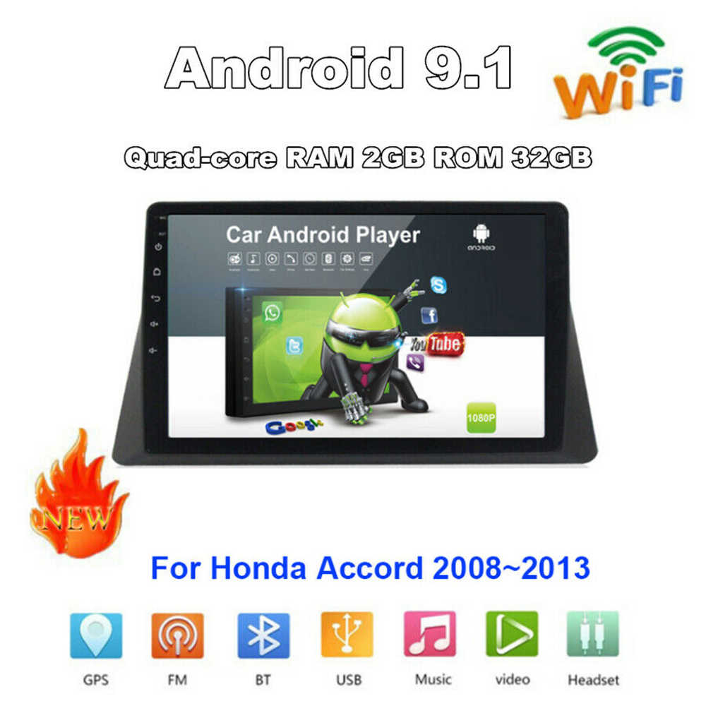 2G + 32G 2 Din Android 9.1 Car Multimedia MP5 Speler Gps Navigatie Voor Honda Accord 2008 2009 -2013 Auto Radio Auto Stereo Wifi Bt