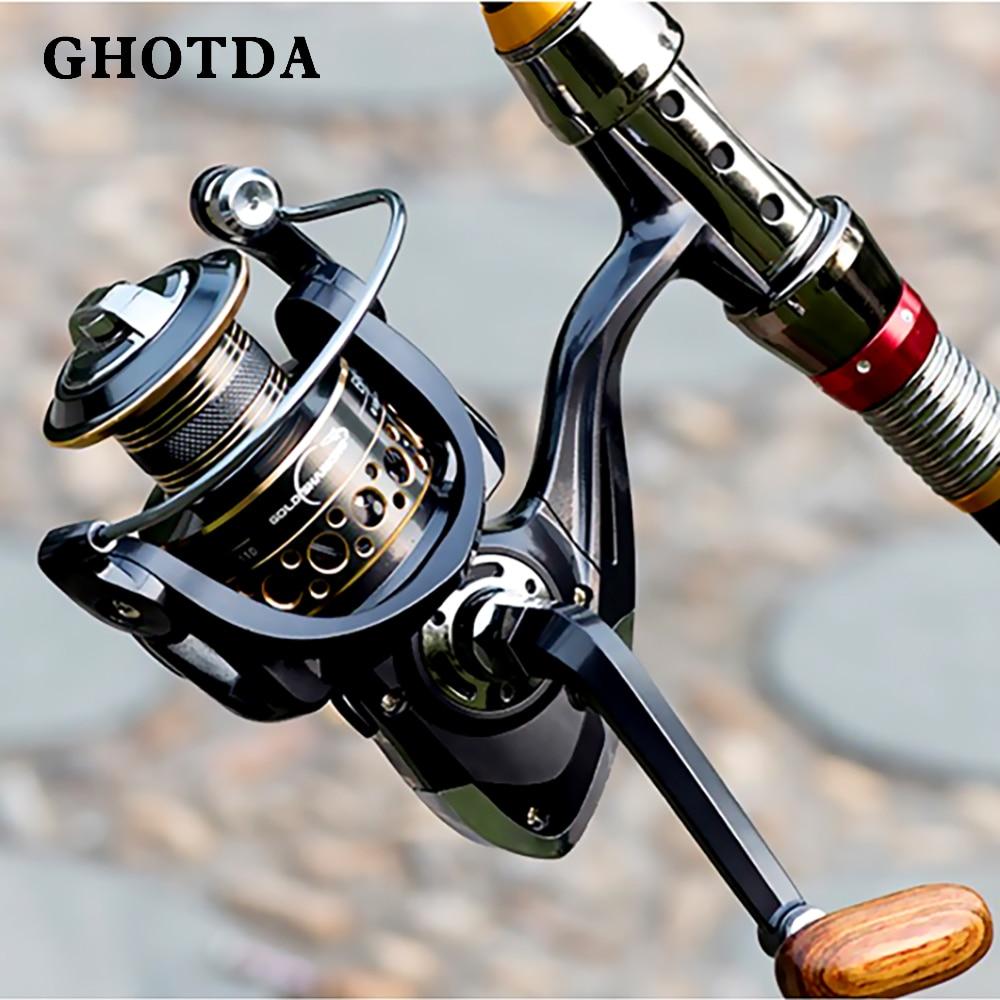 1.8-3.6M telescopic fishing rod combo spinning reel fishing set carp fishing rod reel kit