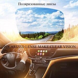 Image 4 - CAPONI מותג מקוטב גברים יום נהיגה כיכר משקפי שמש קלאסי מתכת אנטי השתקפות גוונים עבור זכר UV400 CP031