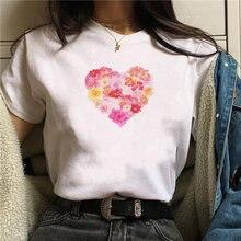 Женские повседневные белые топы футболка женская Милая с принтом