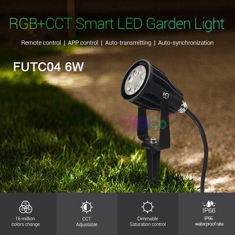 miboxer 6 w rgb cct futc04 ac100 240v ip66 inteligente conduziu a luz do jardim