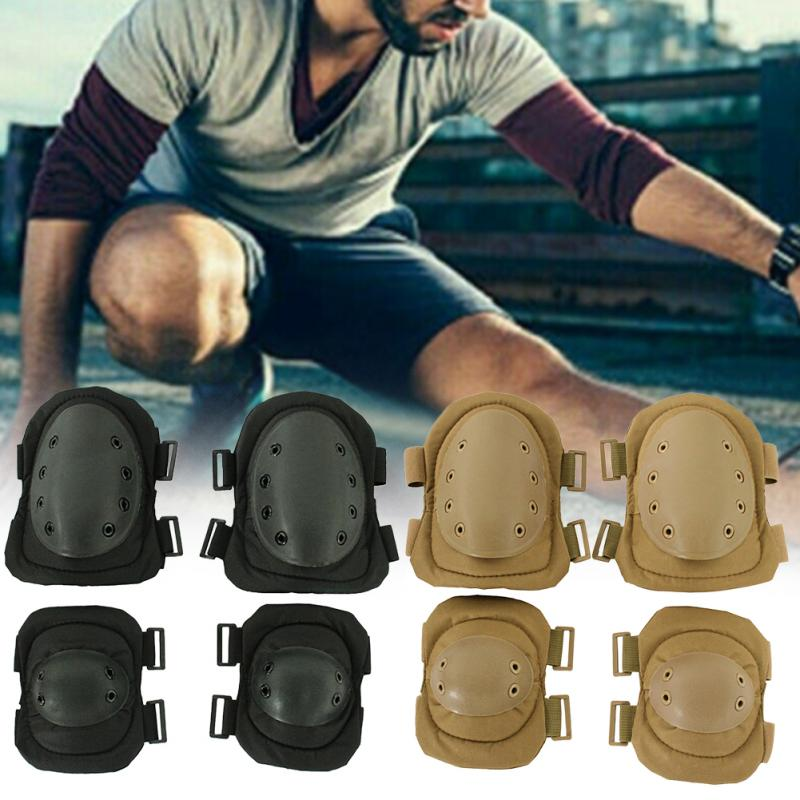 4Pcs Outdoor Sports Skating Protector Gear Anti Collision Protective Pad Set Soft Shell Knee Elbow Multipurpose Safety Guard