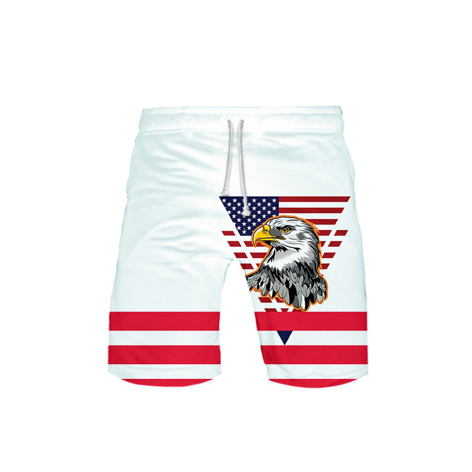 2020 New Skull Eagle <font><b>USA</b></font> Flag 3D Board Shorts Trunks Summer Quick Dry Beach Swiming Shorts Men Casual Pants Beach Short image