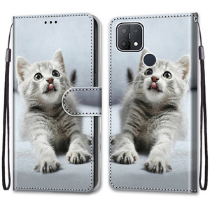 Image 2 - Etui On For OPPO A15 Case Wallet Flip Leather Case For OPPOA A 15 A15s CPH2185 CPH2179 6.52 inch Cute Animal Phone Cover