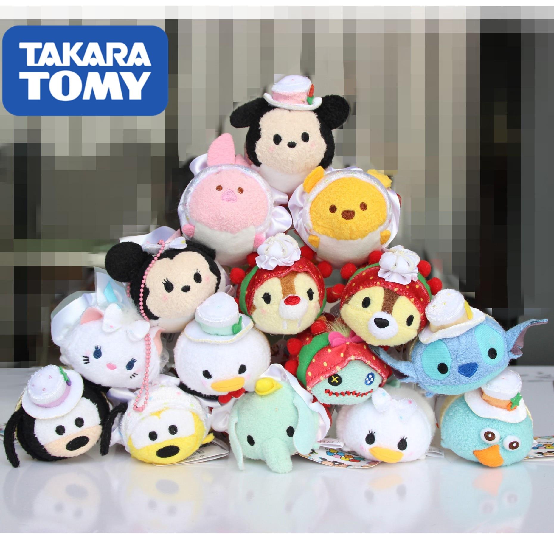 TAKARA TOMY Super TSUM  Mickey  Birthday Gift, Festival Festival, Plush Dolls/Mobile Hanger Car Dolls  Christmas Present