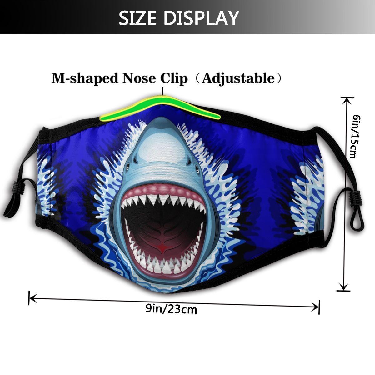 Image 2 - サメの口の口フェイスマスクサメ顎攻撃フェイシャルマスク河合面白い 2 フィルタ大人のためのマスク   -