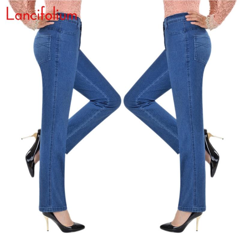 Basic High Waist Jeans Women Mom Jeans Denim Pants Spring Summer 2020 Ladies Vintage Plus Size Loose  Jeans Pants Femme Korean