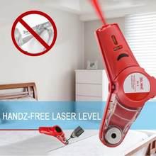 Guia de broca coletor 2 em 1 laser leve linha horizontal localizador a laser com faixa medição vertical fita medição ferramentas